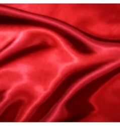 Red silk fabric texture vector
