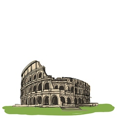Colosseum rome italy vector