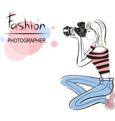 Fashion photographer vector