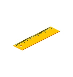 Isometric ruler on white background for web design vector