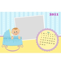 Babys calendar for may 2011 vector image