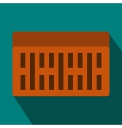 One building brick icon flat style vector