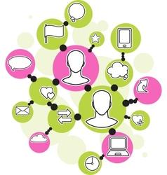 Social media network pattern vector image
