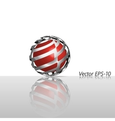 Abstract glass hi-tech sphere logo icon vector