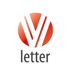 Abstract round logo letter V vector image