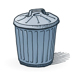 American trash can vector