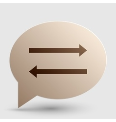 Arrow simple sign Brown gradient icon on bubble vector image