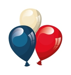 Ballons with usa patriotic colors vector