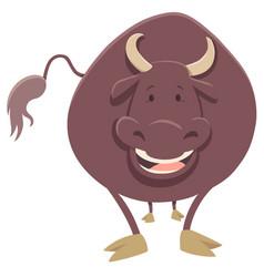 Bull farm animal character vector