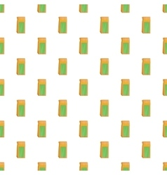 Craft paper tea pack pattern cartoon style vector