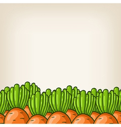 cute background with carrot border vector image vector image