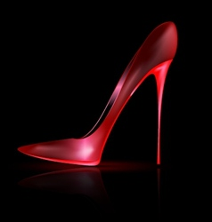 dark and red shoe vector image vector image