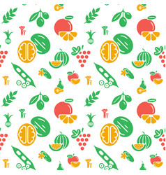 Digital green yellow vegetable icons set vector