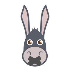Donkey head with mouth sealed vector