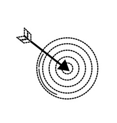 dotted shape arrow with target board to play vector image