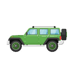 Extreme travel car isolated vector