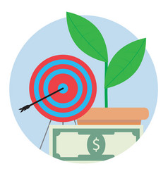 Financial target icon vector