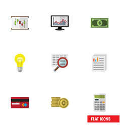 Flat icon incoming set of bubl calculate vector