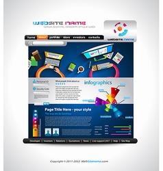 Flat style website template - elegant design for vector