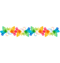 Floral colorful ornament vector
