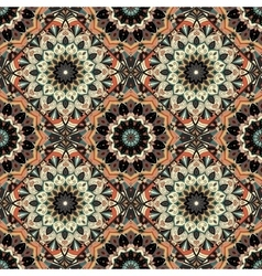 Flower pattern boho brown black intricate vector