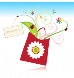 gift with card vector image vector image