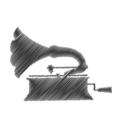 gramophone drawing isolated icon vector image