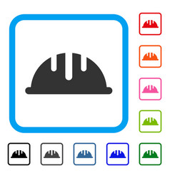 helmet framed icon vector image