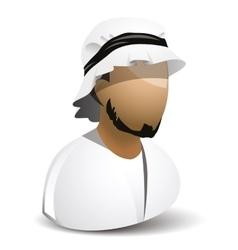 icon of arabic man vector image
