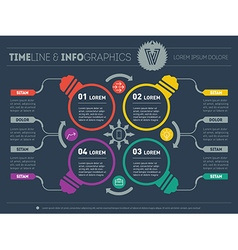 infographics Business concept with four options vector image vector image