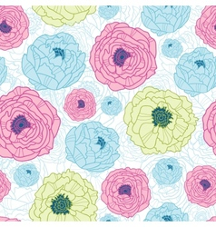 Lovely flowers seamless pattern background vector image