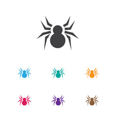 Of animal symbol on spider vector