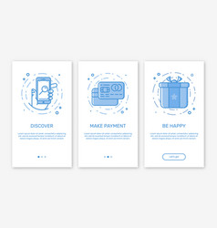 onboarding app screens and vector image vector image