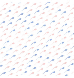pink and blue spermatozoids icons on white vector image vector image