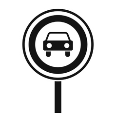 Prohibiting traffic sign icon simple style vector image vector image