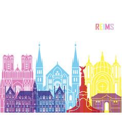 Reims skyline pop vector