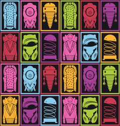 Robots pattern vector image vector image