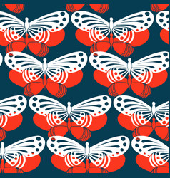 seamless colorful background butterfly pattern vector image vector image