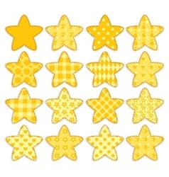 Set of patchwork stars vector