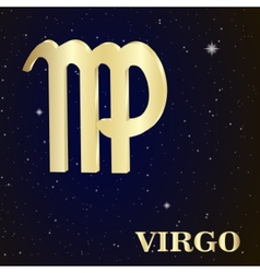 Sign of the zodiac virgo is the starry sky vector