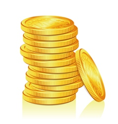 Stack of Gold Coins vector image vector image