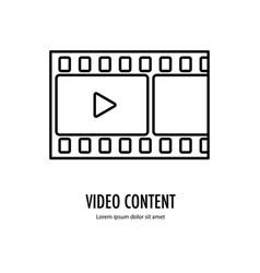 Video content icon vector