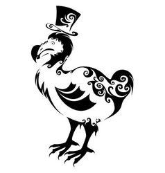 Dodo bird vector image