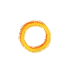 Fire ring flaming sun vector