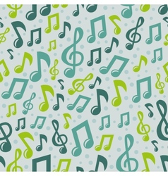 Music seamless pattern with icons vector