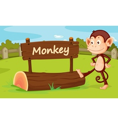 Monkey in a zoo vector