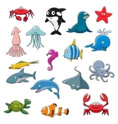 Ocean or sea cartoon isolated characters vector