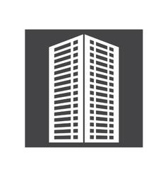 Contour building line sticker image vector