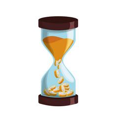 Hourglass antique instrument vector