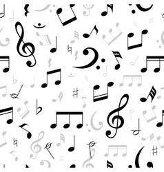 Music notes seamless pattern vector